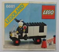 LEGO LEGOLAND VTG 1981 # 6681 POLICE VAN TRAFFIC CITY COPS INSTRUCTIONS MANUAL