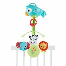 NWB Rainfores Friends 3-in-1 Baby Musical Crib Mobile & linkable stroller mobile