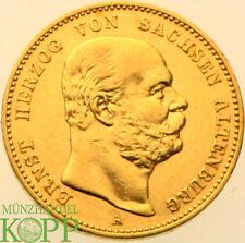 AA5023) J.269 SACHSEN ALTENBURG 20 Mark 1887 A - Ernst 1853-1908 Gold