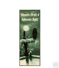 Halloween Night Scary Haunting Owl Tin Sign NEW