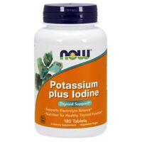 Now Foods Potassium Plus Iodine 180 Tablets Made in USA FREE SHIPPING
