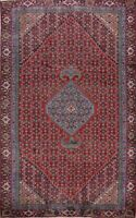 Vintage Geometric Ardebil Hand-Knotted Traditional Area Rug Oriental Carpet 6x10