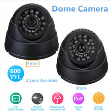 "WIRELESS TELECAMERA DOME CCTV CAMERA 24 IR-CUT LED CAM VISIONE NOTTURNA 1/4""CMOS"