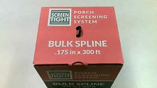 New listing Screen Tight .175in x 225ft. Bulk Spline