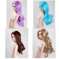 1/4 Girl Doll Hair Long Wavy Wig for BJD Pullip DZ MSD XinYi Doll DIY Accs