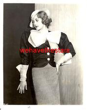 Vintage Patricia Ellis ORRY-KELLY GLAMOUR FASHION '33 WB Publicity Portrait