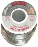 """14-7080-1001 .125/"""" Sn95 Ag05 Kester Lead Free Solid Wire Solder"""