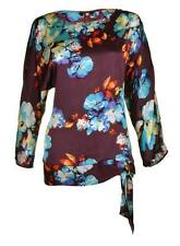 M&Co Hip Length Scoop Neck Floral Tops & Shirts for Women