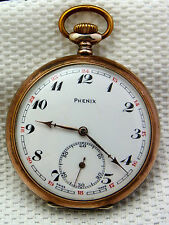 schöne alte Taschenuhr Phenix 800/-Silber