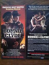 Bonnie & Clyde musical ad/flyer NYC Jeremy Jordan Supergirl  Laura Osnes