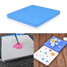 2x Fondant Foam Sponge Pad Sugarcraft Cake Decorating Flower Making Mat +12 Hole