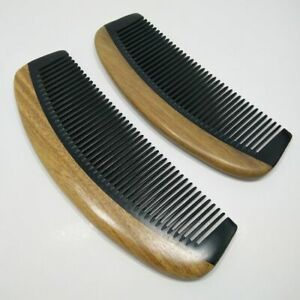 Natural Green Sandalwood Ox Horn Wood Comb Beard Makeup Tool Massage Hair Care