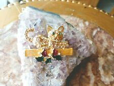 Pin - Smithsonian Institute New Crystal Studded Christmas Cat