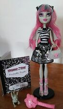 Preowned Monster High Rochelle Goyle with pet, purse, diary, wings, necklace etc