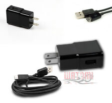 100 2A POWER ADAPTER+10' MICRO USB CABLE DATA CHARGER BLACK LUMIA 800 G2 OPTIMUS