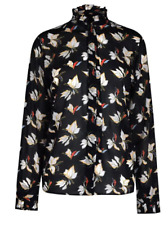 Gant Floral Chiffon Shirt Black Ladies Size UK 16 *REF11