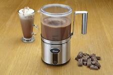 Hostess Electric Classic Milk Frother Silver Glass Jug Hot or Cold Chocolate