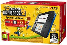 Nintendo 2 DS Console with Super Mario Bros 2 Game Blue/Black New UK seller
