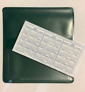 1 NEW Hunter Green VINYL CHECKBOOK COVER W/DUPLICATE FLAP + 1 CHECKBOOK REGISTER
