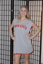 Ohio State Buckeyes NCAA Basketball Warmup Jersey- Red / Gray - Nike - XL