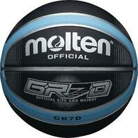 Molten BGRXD Deep Channel Original Basketball Highly Durable Rubber - Black/Blue