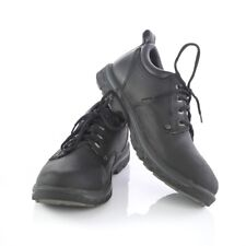 Skechers Relaxed Fit Segment Rilar Black Leather Oxfords Shoes Mens 9.5 Sn 64260