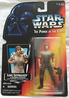 Star Wars POTF Power Of The Force Luke Skywalker In Dagobah Fatigues Red Card 96