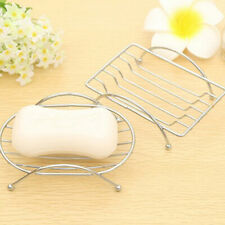 KF_ Bathroom Shower Soap Box Dish Storage Plate Tray Holder Case Container Fin