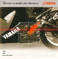 YAMAHA TZR 50 DT 50 DT 50 Supermotard 50 à vitesse 2004 : Brochure Moto #0036/2#