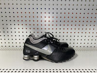 Nike Shox Deliver Womens Leather Athletic Running Shoes Size 7 Black Gray