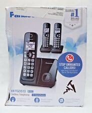 Panasonic KX-TGD513B Expandable Cordless Phone w/ Call Block, 3 Handsets - Black