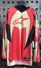 Maglia Rossa Red Motocross Mx Alpinestars Racer Jersey Taglia Xl