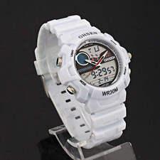 Ohsen Unisex Stainless Steel Case Digital Wristwatches
