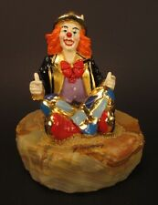 Vintage Ron Lee Cross Legged Clown Signed 1997