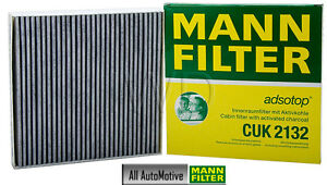 Cabin Filter fits SMART ForTwo 2008-2014 MANN CUK2132 OE# 4518300018