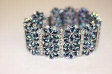 Fatto a mano perle Swarovski bracciale fascia moda gioielli
