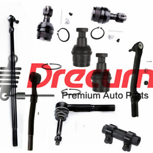 9PC Ball Joint Tie Rod Drag Link Kit For Ford F-250 F-350 Super Duty  4WD
