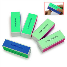 5PCS 4 Way Shiner Buffer Buffing Block Sanding File Nail Art Manicure Tool New