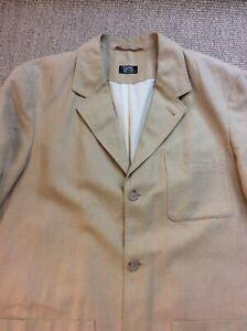 Mens CAMEL ACTIVE Medium Linen Blend Beige Blazer Jacket VGC