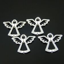 Silver Tone Alloy Angel Charm Bead Jewelry Finding Hot Sale 20pcs