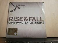 RISE & FALL CRAIG DAVID featuring STING - PROMO CD singolo cardsleave 2003