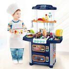 Kids Kitchen Play Set Pretend Cooking Playset Toys Toddler Girls Xmas Gift USA