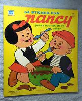Whitman Sticker Fun Book Nancy 1973 mint and unused Oversize