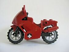 Lego MOTORCYCLE for Minifigures to Ride - City Town -DARK RED-