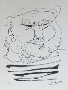 """PABLO PICASSO MARGE DU BUFFON SUITE """"Old sailor face"""" XXVII HAND NUMBERED signed"""