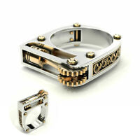 Fashion Women Wedding Jewelry Lighter Punk Sz6-10 Gothic Silver Party Ring