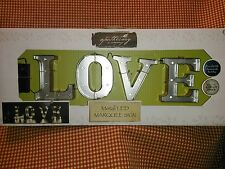 Apothecary & Company 4.5in. Metal LED Marquee LOVE Sign