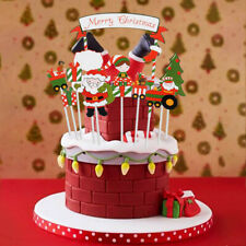 2020 christmas cake decoration cake topper creative paperboard decoration