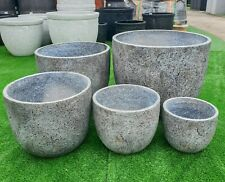 Outdoor Garden Patio Planter Pot Round Charlotte Egg GRC Lightweight Light Grey