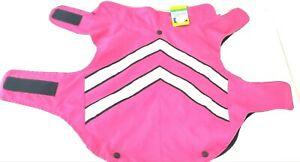 top paw dog sweater/coat reflective pink/black